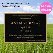 bronze anzac plaque design your own