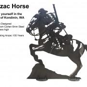 anzac horse war memorial corten engineering art