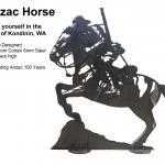 laser cut war horse memorial