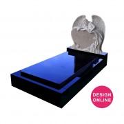 carved angel headstone memorial full monument