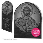 greek orthodox church plaque headstone