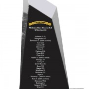 laser etched honor roll war memorial mckinlay