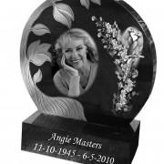 angie circle round headstone