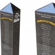 war memorial post bollard laser etched granite