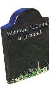 mini headstone buried