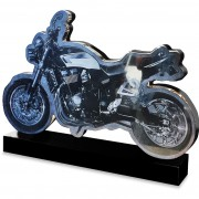 motorcycle headstone memorial monument