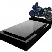 motorbike headstone memorial monument
