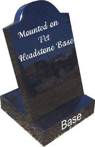 mini headstone in base