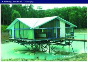 rotating lake house dwelling up van der mere