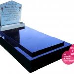Ella Light Reflective headstone on Full Granite Monument for Website