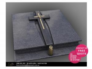 christian cross double memorial flowerpot insence
