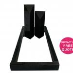 full monument modern design kerbs pillars