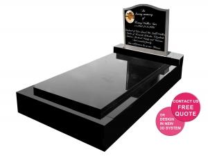 Stainless Steel full monument headstone