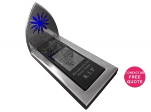 Stainless Steel mini monument mockup