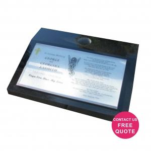 Block sloper with digiglass plaque