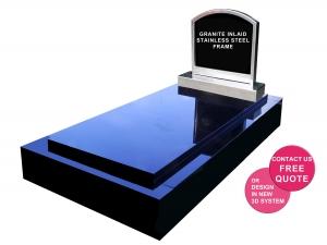 Full monument stainless steel headstone