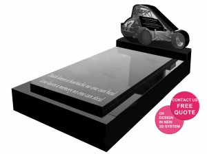 Speedcar headstone full monument custom shape