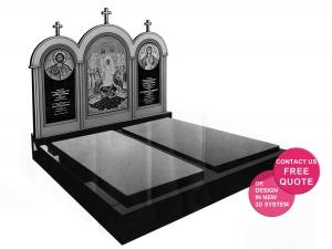 Double monument with catholic iconography