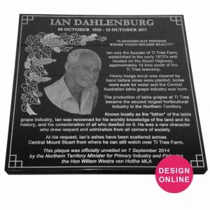 Design Laser Etched Granite Plaques online