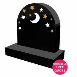 Traditional engraved Granite kids headstone