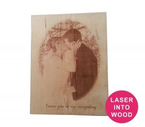 Laser Etched Wood plaque