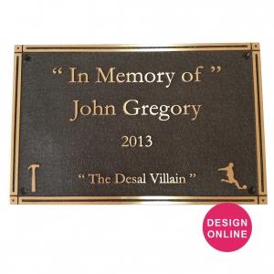 design bronze plaques online