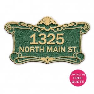 cast bronze house number