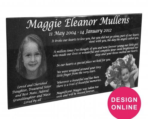 Plaques - Design online - Forever Shining Memorials