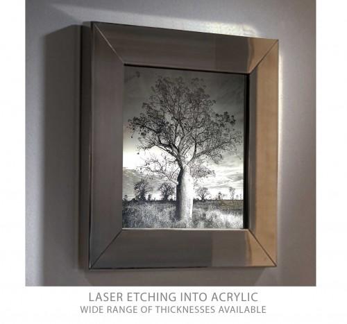 Laser etched acrylic led lightbox