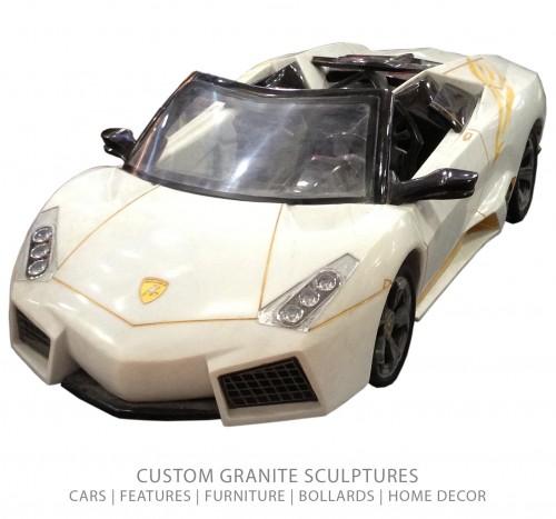 Carved Granite Lamborghini