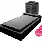 Full Monument with Granite Insert Stainless Steel headstone