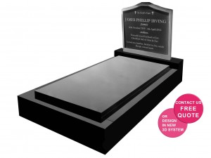 Full Monument with Granite Insert Stainless Steel headstone