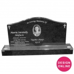 double headstone with base MCB