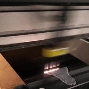 Laser Engraving into Granite