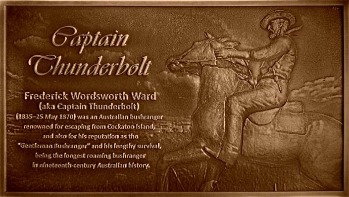 Capitan's Thunderbolt Australian Bronze Plaque