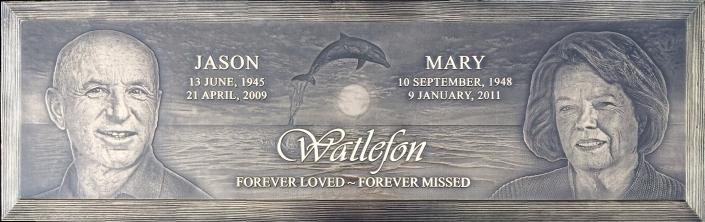Bronze Pictured Plaque - Forever Loved Forever Missed