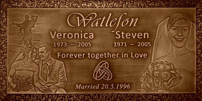 Couple's Bronze Plaque