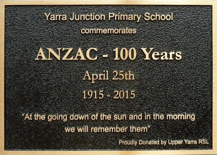 Commemorative Anzac Bronze Plaque April 25th