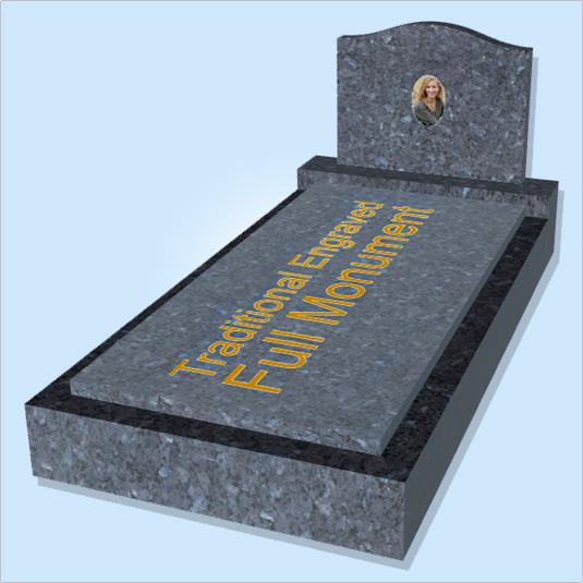 Traditional Engraved Full Monument - Memorial Design Online