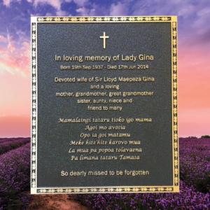 Buy Cast Bronze Memorial Plaque