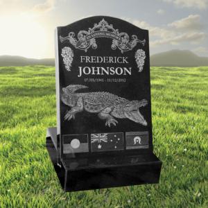 Buy Laser Etched Memorial Black Granite Mini Headstone