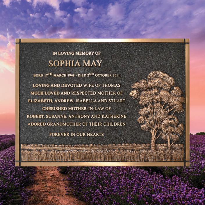 cast bronze plaque australia made